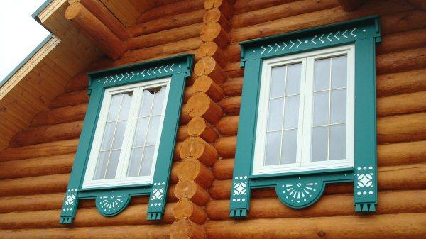 Окна в деревянном доме своими руками фото