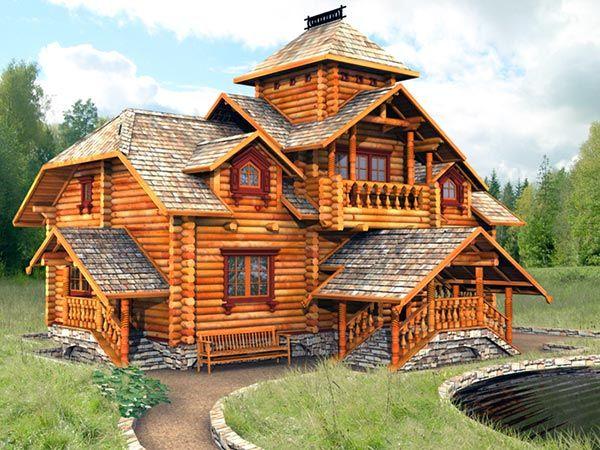 Рассмотрим этапы возведения деревянного дома.