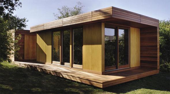 Реализованный проект домика до 100 кв м в стиле хай-тек.