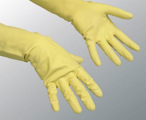 Резиновые перчатки для защиты кожи рук.