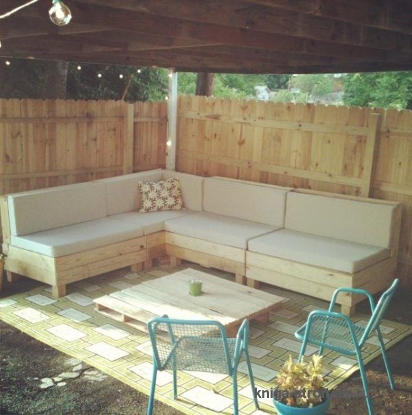 Как сделать диванчик для беседки