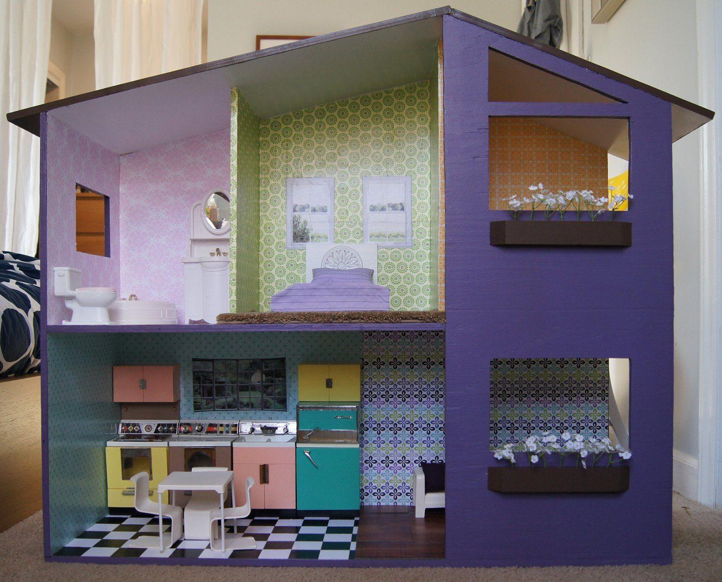 Как сделать домик для куклы своими руками монстер хай