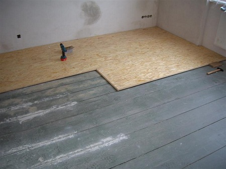 Укладка осб на деревянный пол