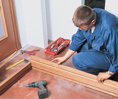 Сборка дверной коробки из дерева
