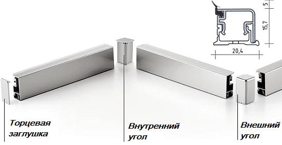 Сборка металлического бортика с применением доборных элементов