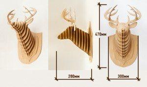 Схема изготовления оленя с размерами
