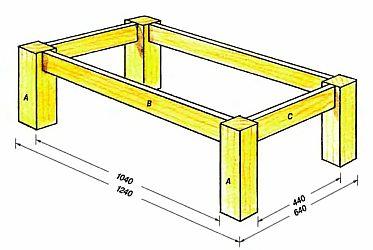 Как сделать стол своими руками из досок чертежи 31