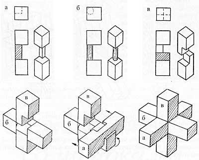 Схема сборки головоломки