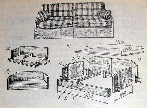 Как сделать своими руками диван в домашних условиях