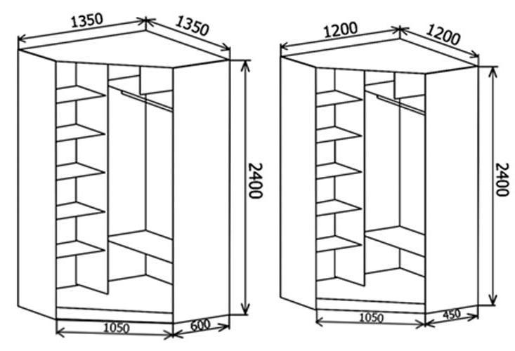 Шкаф купе угловые своими руками чертежи и схемы