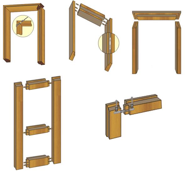 Схемы используемых крепежных узлов