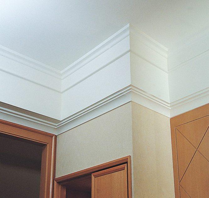 Сочетание галтели с широким стеновым бордюром