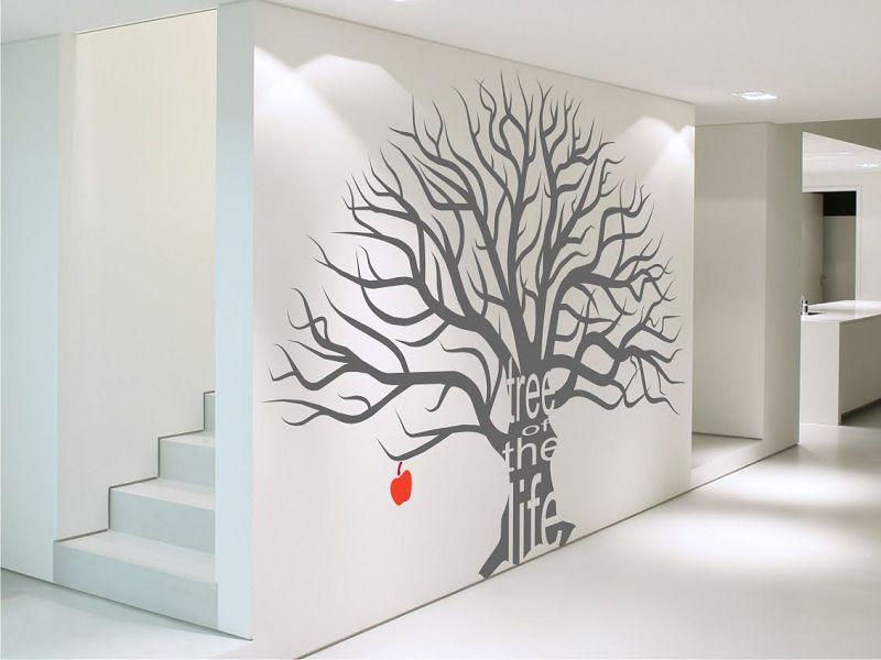 Рисунки деревьев на стене в квартире своими руками 88