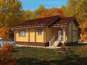 Современные проекты деревянных одноэтажных домов из бруса украсят любую усадьбу.