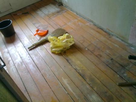 Старые доски после очистки