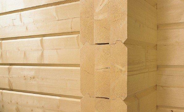 Стены из клееного профилированного бруса – их усадка составляет 1-2%