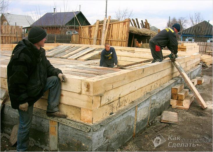 Видео как строить дом из бруса своими руками пошаговая инструкция
