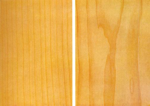 Структура кедра выражена не очень ярко, но природный рисунок довольно привлекательный