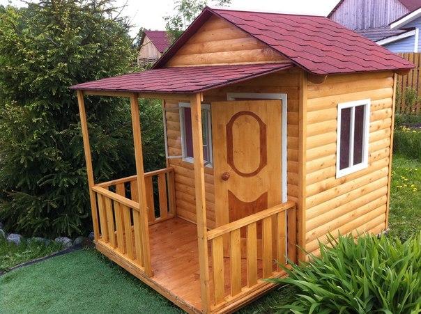 Так выглядят профессионально изготовленные садовые постройки для детей