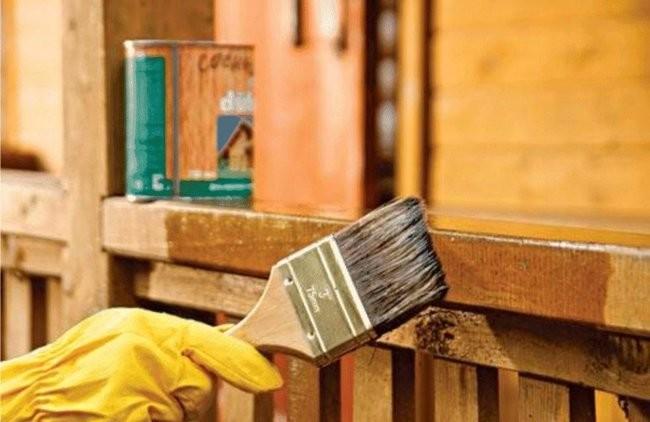 Такое покрытие защитит древесину.