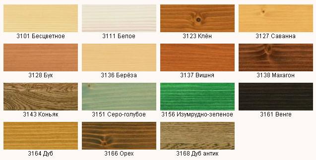 Цвет и текстура разных пород дерева.