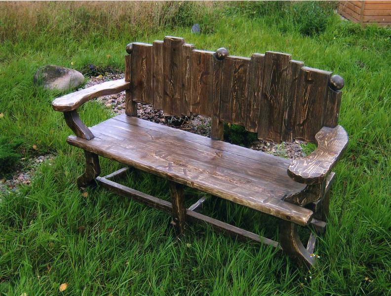 Дачная скамейка своими руками фото