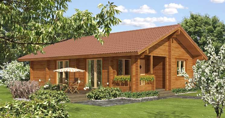 Удобны и красивы финские домики из древесины.