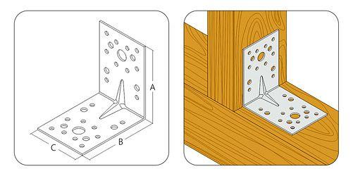 Уголки надежно фиксируют каждую деталь, а их крепление происходит очень быстро