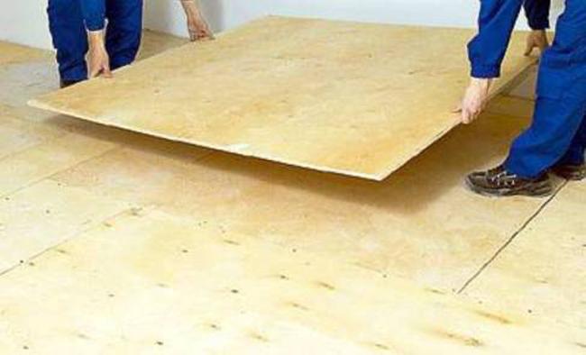 Укладка фанеры на деревянный пол под ламинат своими силами