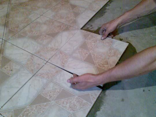 Укладка керамики на полимерную основу