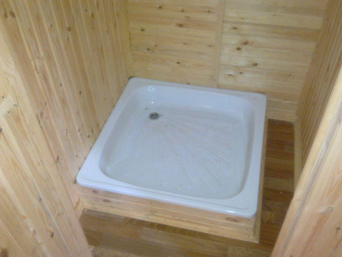 Как сделать поддон для душа в деревянном доме