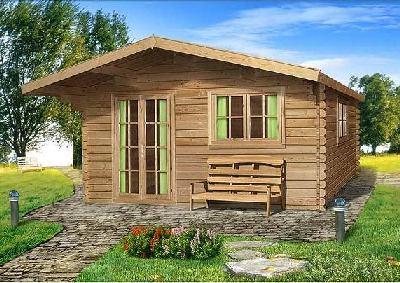 Вариант готового сооружения: маленький одноэтажный домик