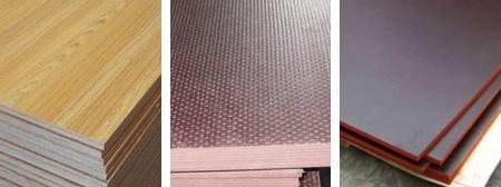 Варианты ламинированной поверхности листов