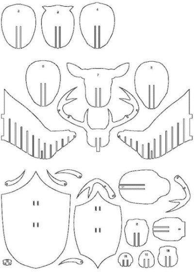 Голова оленя из фанеры 29