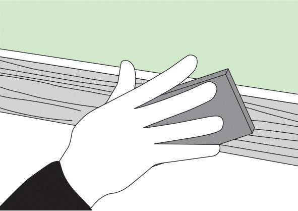 Важно качественно очистить поверхность и выровнять ее насколько это возможно