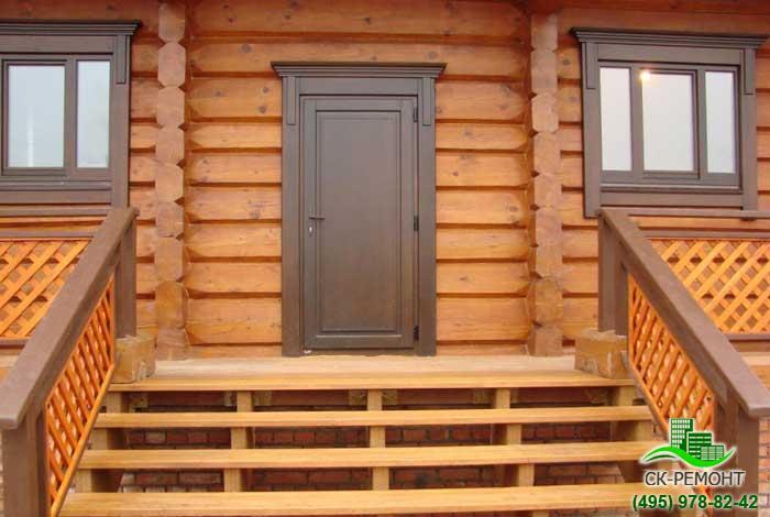 Металлические двери в деревянный дом своими руками