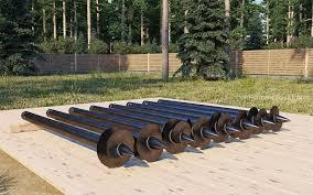 Винтовые опоры для бруса обеспечивают надежность конструкции за счет того, что глубоко проникают в землю