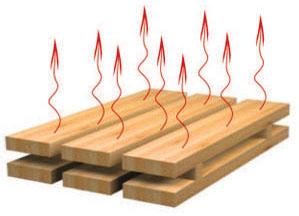 Влага должна испаряться из поверхности равномерно, именно поэтому и используются проставки между рядами