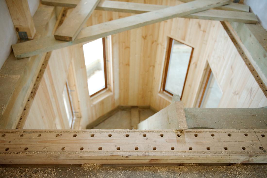 Внешний вид внутренней части строения.