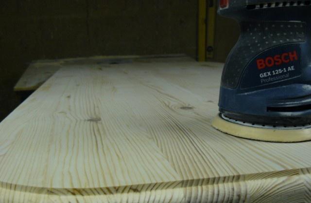 Восстановление старой деревянной столешницы.