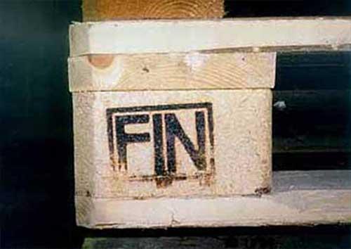 Вот такая маркировка присутствует на финпаллете