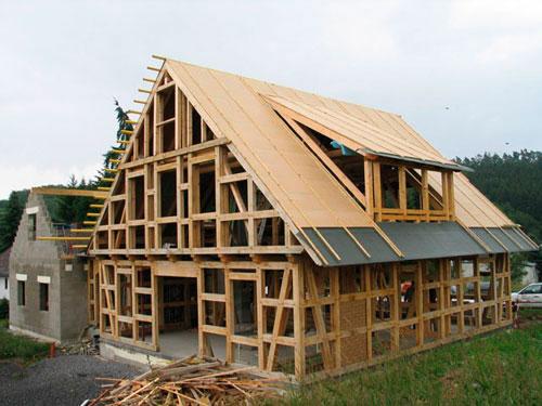 Возведение каркасного деревянного здания