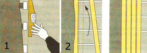 Выравнивание стены вагонкой.