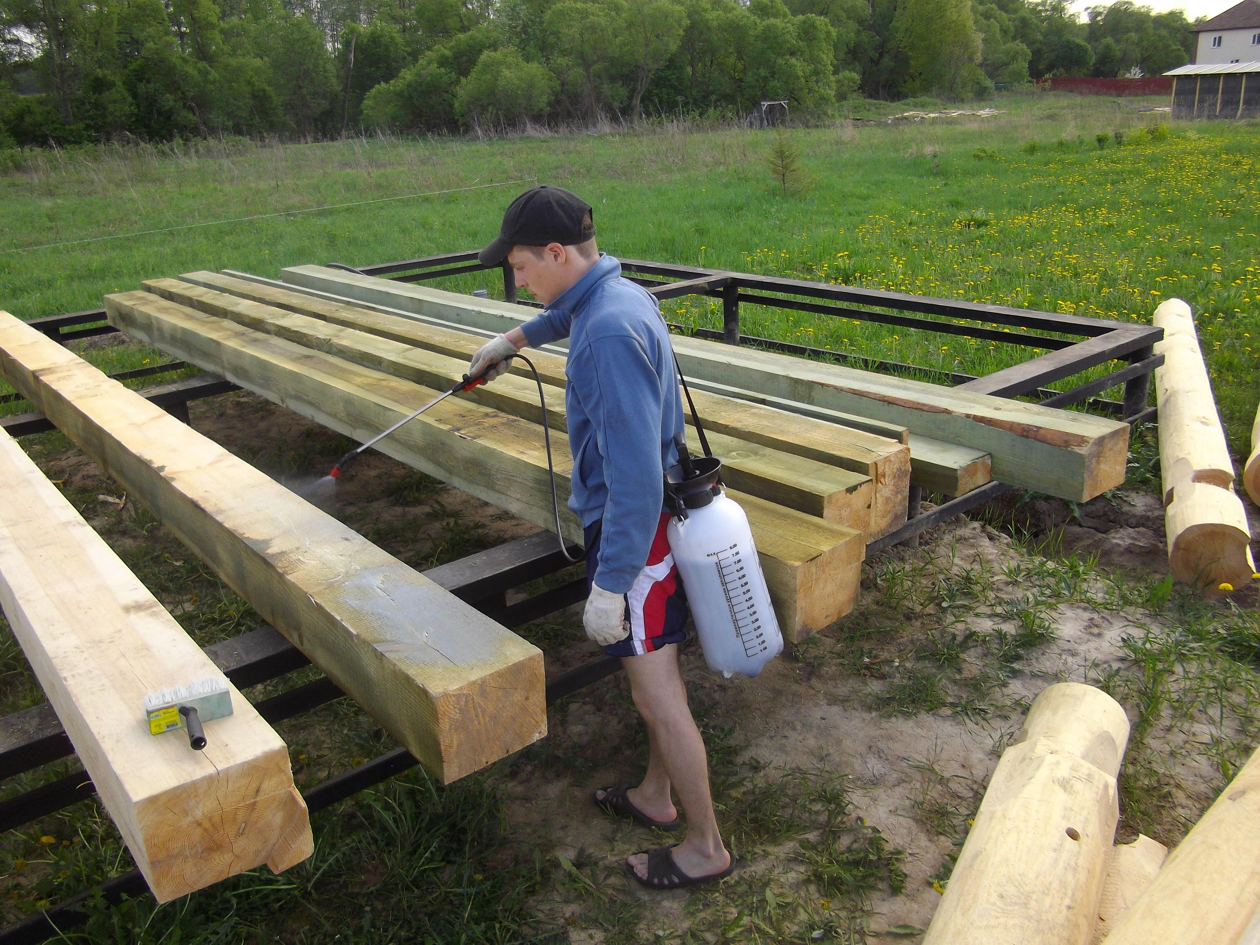Защита древесины от гниения своими руками 66