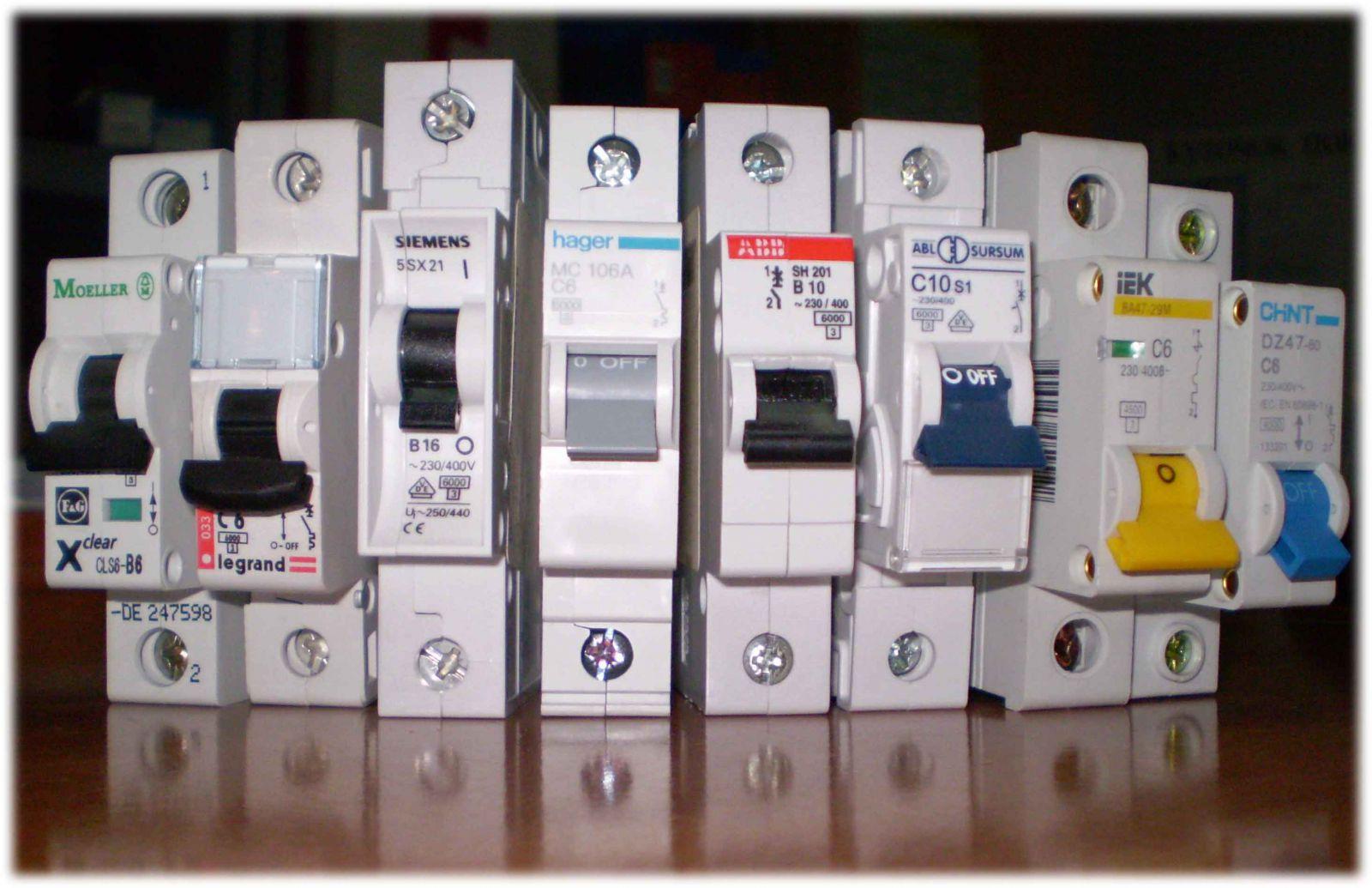 Автоматические выключатели разных видов