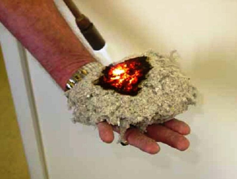 Благодаря обработке материал не поддерживает горение