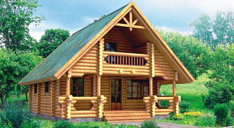 Бревно – отличный строительный материал для сооружения надежного жилища.