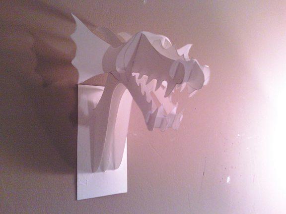 Бумажная модель того, что можно изготовить из фанеры