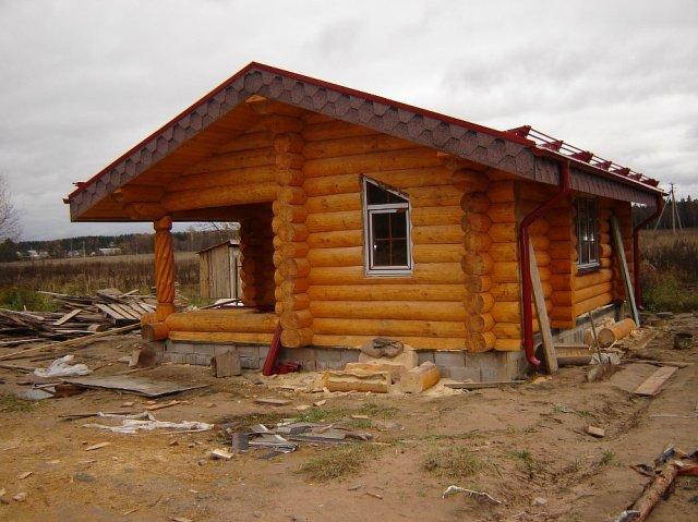 Быстро и легко построить баню из бревна возможно
