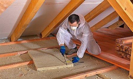 Чаще всего для теплоизоляции применяется минеральная вата в плитах
